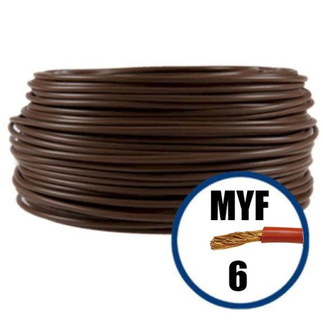 Conductor electric MYF 6 mmp, maro, H07V-K, 100M